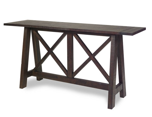 Vineyard Casual Distressed Root Beer Wood Console Table PRG-A732-70
