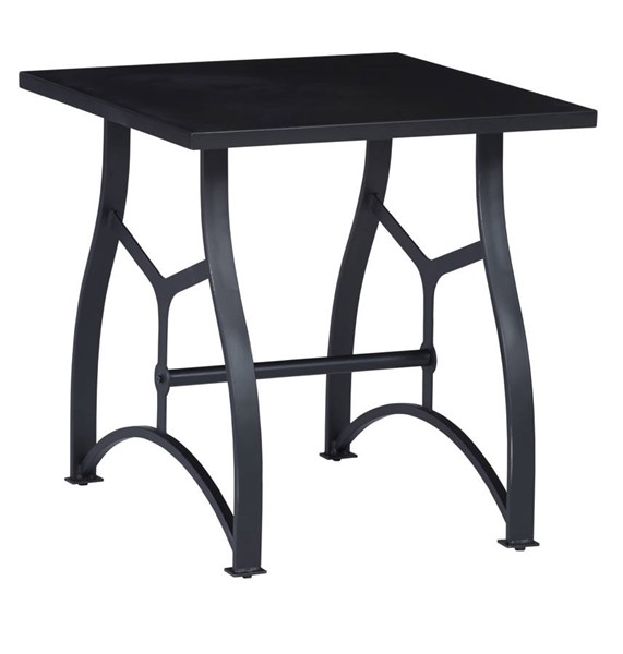 Progressive Furniture Habitat Matte Black Square End Table PRG-A743-68C