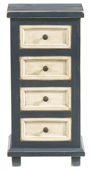 Progressive Furniture Sallie Blue Four Drawers Chairside Table PRG-A750-69N