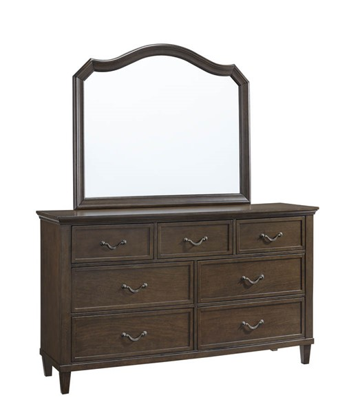 Progressive Furniture Brixton Hazelnut Dresser and Mirror PRG-B105-23-50
