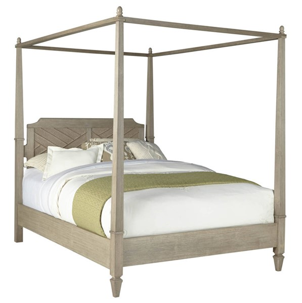Progressive Furniture Coronado Flax Queen Canopy Bed PRG-B131-60-62-78