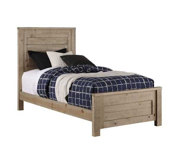 Progressive Furniture Wheaton Natural Twin Panel Bed PRG-B623-25-26-27