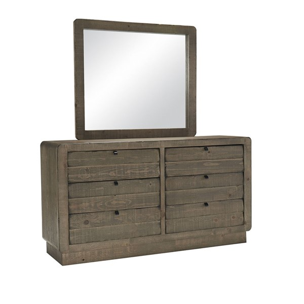 Progressive Furniture Bliss Brown Drawer Dresser And Mirror PRG-B640-23-50
