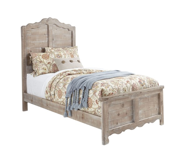 Progressive Furniture Chatsworth Chalk Full Panel Bed PRG-B643-32-33-27