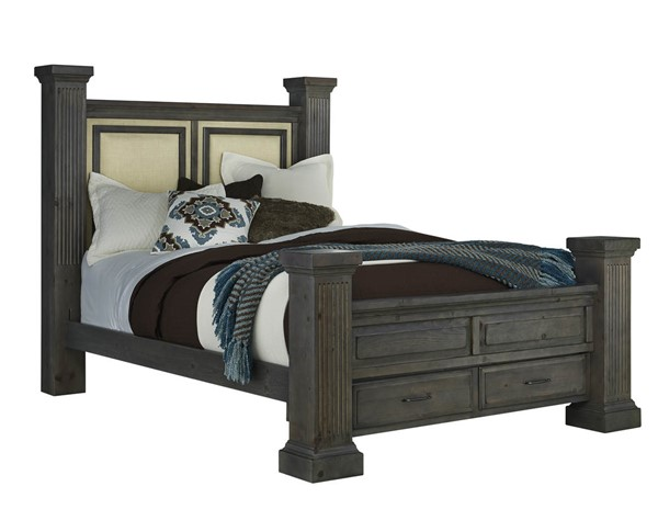 Progressive Furniture Fordham Gray Ash Queen Storage Bed PRG-B648-34-35-49-78