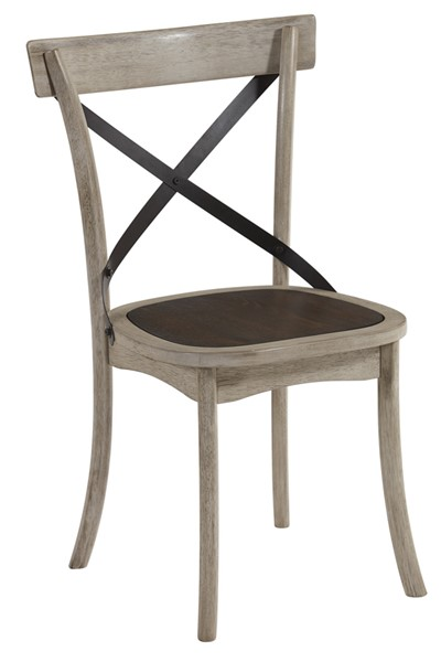 2 Progressive Furniture Winslet White X Back Dining Chairs PRG-D547-61
