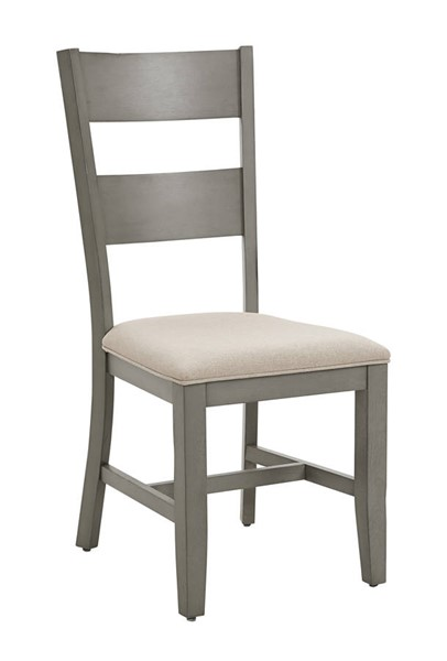 2 Progressive Furniture Toronto Weathered Gray Upholstered Dining Chairs PRG-D837-61