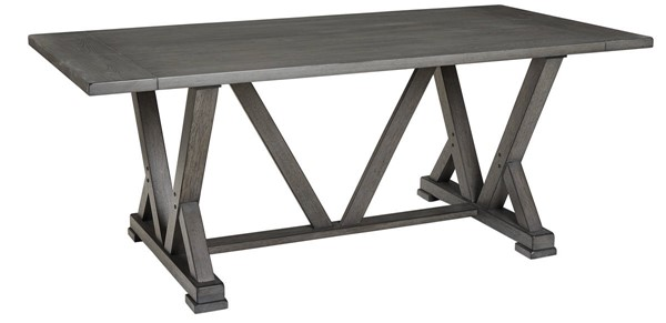 Progressive Furniture Fiji Gray Rectangular Dining Table PRG-D841-10B-10T