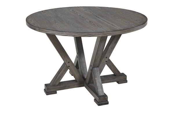 Progressive Furniture Fiji Harbor Gray Round Dining Table PRG-D841-13B-13T