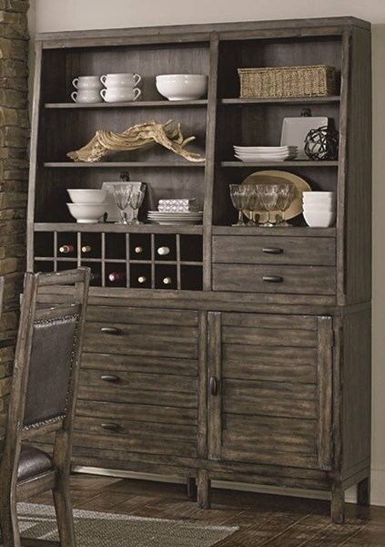 Crossroads Birch Smoke Rubberwood Solid Hutch And Buffet PRG-D850-82-83