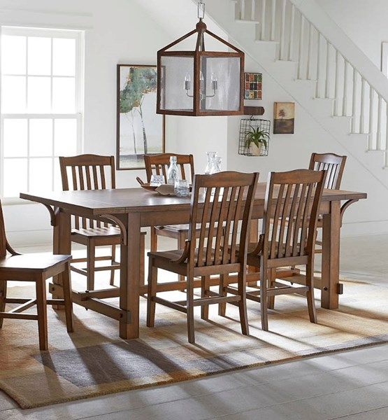 Progressive Furniture Homa Medium Oak Dining Table PRG-D854-10