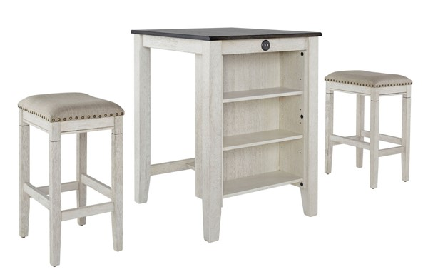 Progressive Furniture Tapas White 3pc Counter Height Set PRG-D860-95W