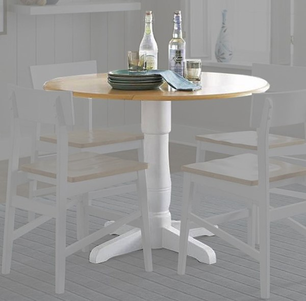 Progressive Furniture Christy White Round Dining Table PRG-D878-13B-13T