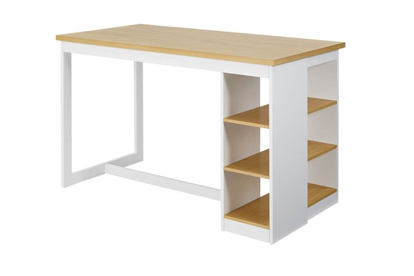 Progressive Furniture Christy Oak White Storage Counter Height Table PRG-D878-14
