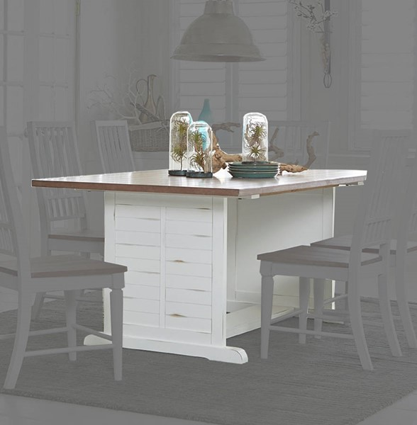 Progressive Furniture Shutters White Dining Table PRG-D884-10