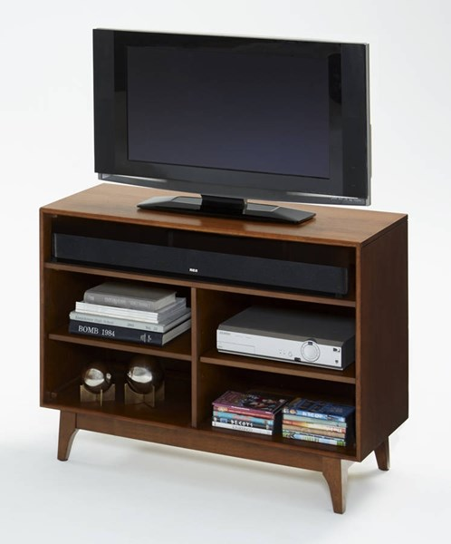 Mid-Mod Transitional Cinnamon Solidwood TV Stand PRG-E106-40