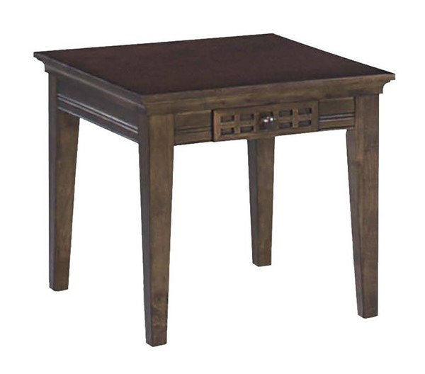 Progressive Furniture Casual Traditions Walnut End Table PRG-P107T-02