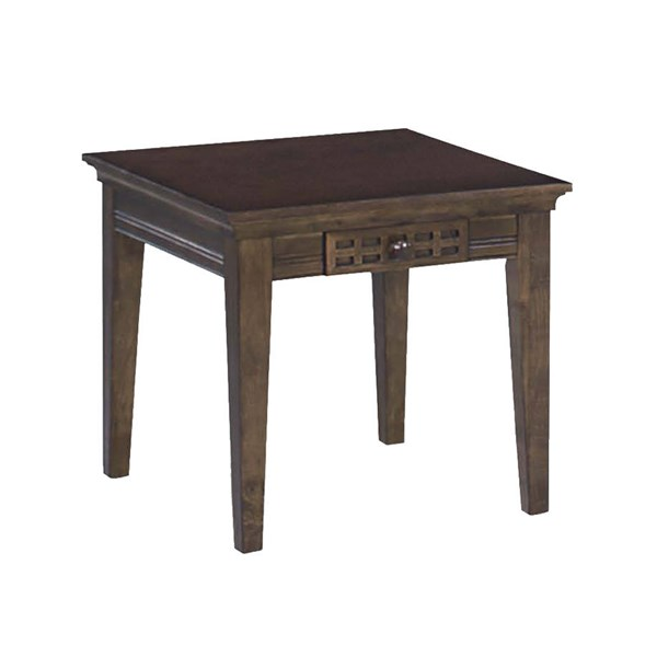Casual Traditions Walnut Rubberwood MDF End Table PRG-P107T-02
