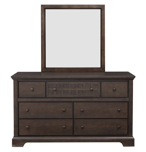 Progressive Furniture Casual Traditions Brown Dresser and Mirror PRG-P107-23-50