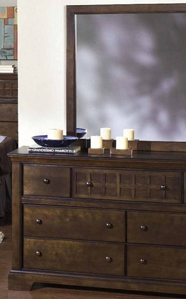 Casual Traditions Walnut Rubberwood MDF Dresser & Mirror PRG-P107-23-50