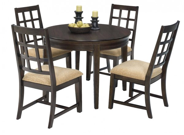 Progressive Furniture Casual Traditions Walnut Round 5pc Dining Set PRG-P107-RND-DR-S