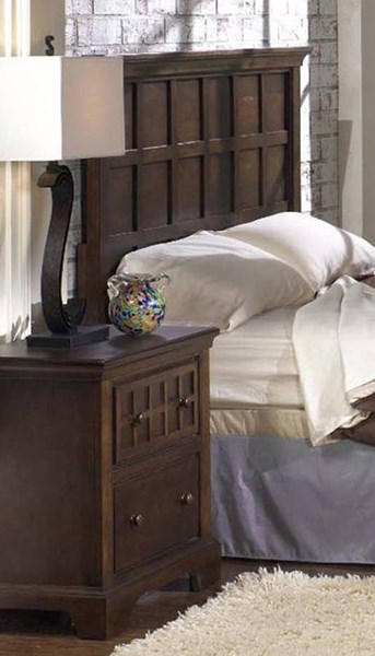 Casual Traditions Walnut Rubberwood MDF Queen Headboard PRG-P107-32