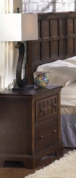 Casual Traditions Walnut Rubberwood MDF Nightstand PRG-P107-44