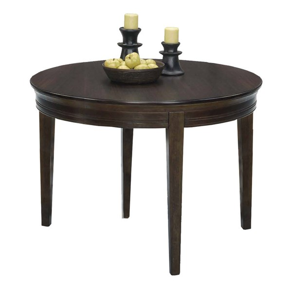 Casual Traditions Walnut Rubberwood MDF Round Dining Table PRG-P107D-13