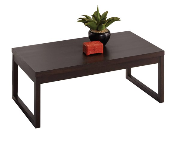 Progressive Furniture Athena Chocolate Cocktail Table PRG-P109T-01