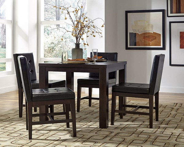 Progressive Furniture Athena Chocolate Square 5pc Dining Room Set PRG-P109D-DR-S2