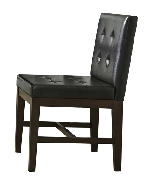 2 Athena Transitional Chocolate Rubberwood MDF Upholster Dining Chairs PRG-P109D-61