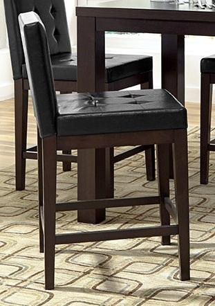 2 Athena Chocolate Rubberwood MDF Counter Upholster Dining Chairs PRG-P109D-63