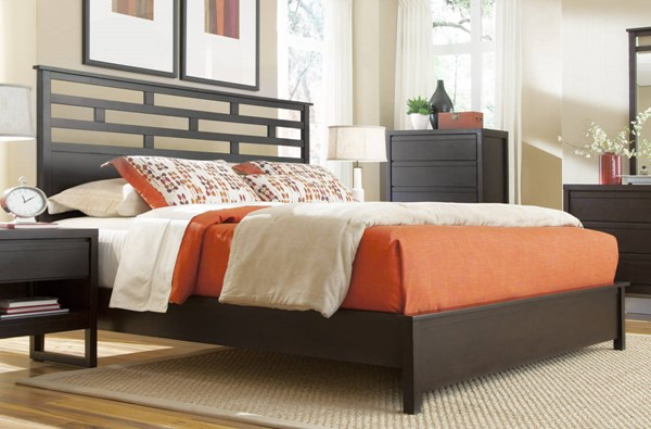 Progressive Furniture Athena Chocolate Queen Panel Bed PRG-P109-34-35-78
