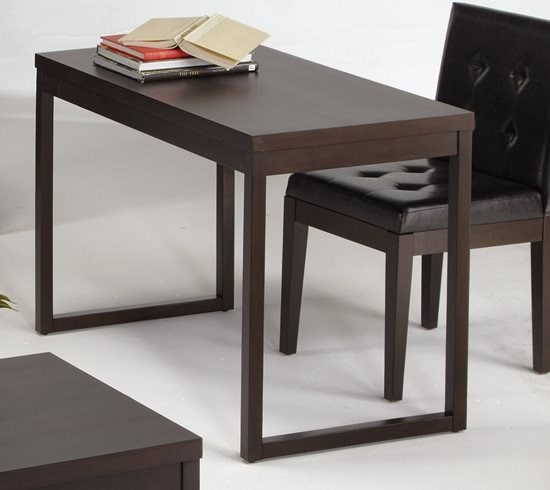 Athena Transitional Dark Chocolate Rubberwood MDF Writing Desk PRG-P109T-71