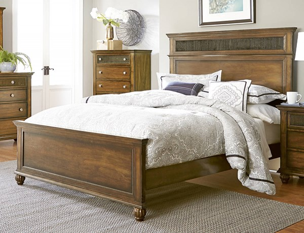 Cotswold Grove Transitional Root Beer Rubberwood Panel Beds PRG-P111-BED-VAR