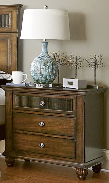 Cotswold Grove Transitional Root Beer Rubberwood Nightstand PRG-P111-43