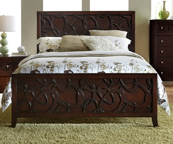 Links Contemporary Chocolate Wood Panel Beds PRG-P144-BEDS