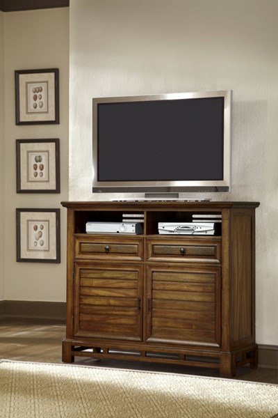 Catalina Transitional Toffee Wood Media Chest PRG-P182-46