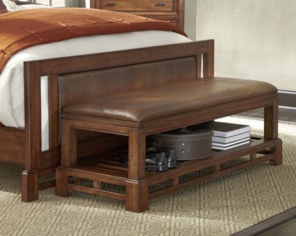 Catalina Transitional Toffee Wood Armless Bench PRG-P182-48