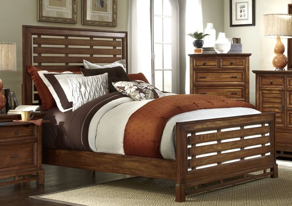 Catalina Transitional Toffee Wood King Slat Footboard PRG-P182-95