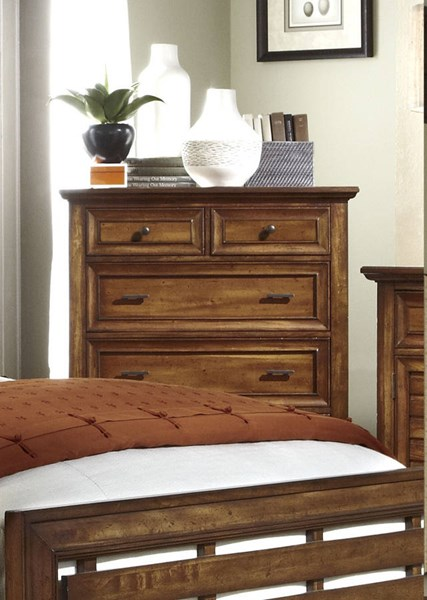 Catalina Transitional Toffee Wood Drawer Chest PRG-P182-14