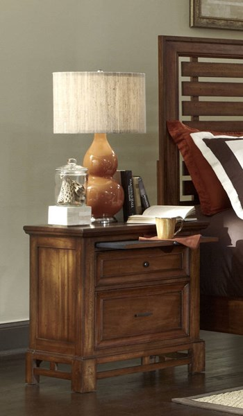 Catalina Transitional Toffee Wood Nightstand PRG-P182-43