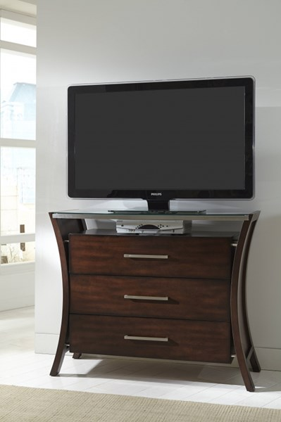 Avalon Contemporary Sable Rubberwood MDF Media Chest PRG-P184-46