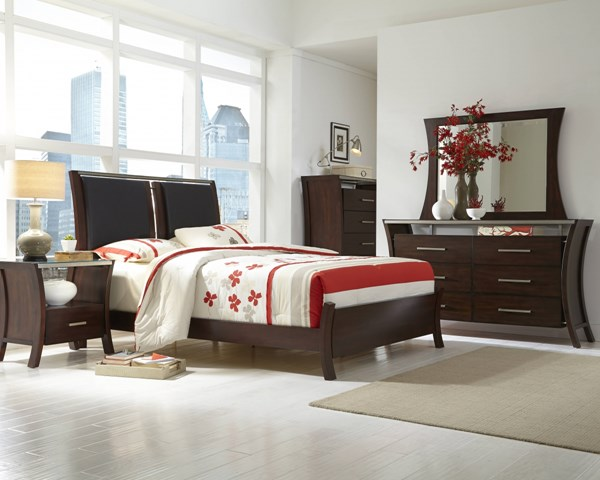 Avalon Contemporary Sable Wood 2pc Bedroom Sets PRG-P184-BR-S