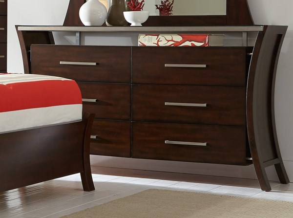 Avalon Contemporary Sable Rubberwood MDF Drawer Dresser PRG-P184-23