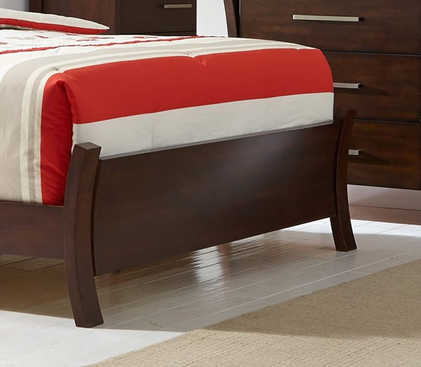 Avalon Sable Rubberwood MDF 6/6 King Upholster Sleigh Footboard PRG-P184-95