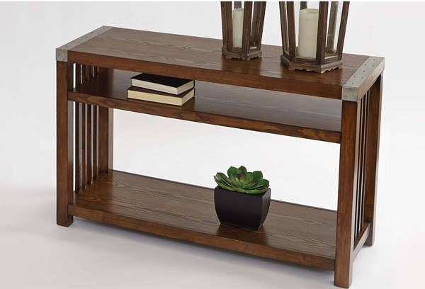 Mason Hills Transitional Ash MDF Metal Sofa / Console Table PRG-P266-05