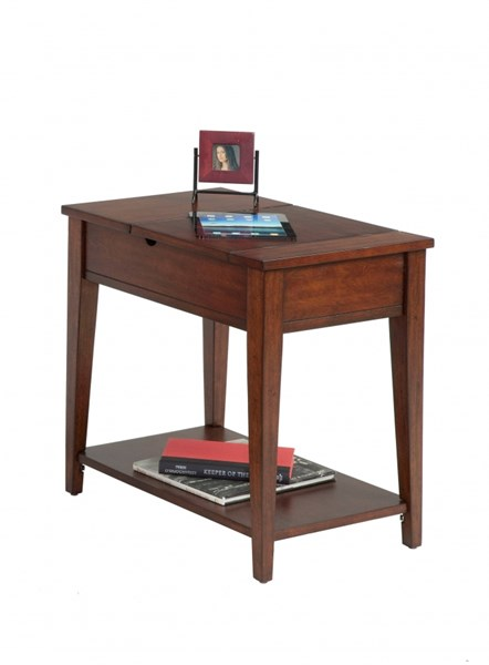 Chairsides Transitional Birch Solid Wood MDF Rectangle Chairside Table PRG-P300-64