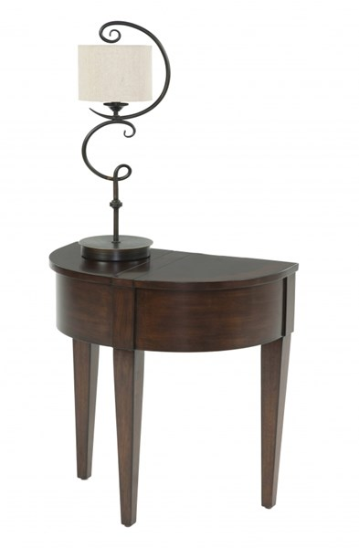 Chairsides Birch Solid Wood MDF Half Round Chairside Table PRG-P300-68
