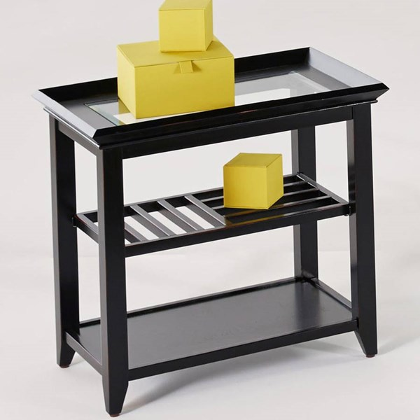 Progressive Furniture Sandpiper Black Chairside Table PRG-P344-29